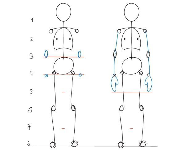 نسب الرسم البشري نسب الوجه وشخصية الإنسان